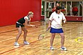 Weekend trip to Vancouver Island, for the Nanaimo Open - Dawn and Reesa in action - (19354850999).jpg
