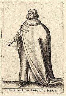 veste da barone indossata durante la cerimonia della creazione