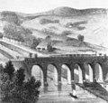 Werrabrücke Münden um 1860 mit Vorstadt Blume.jpg