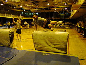 Indoor Obstacle Course Test - Image: West Point Cadet IOCT Vault