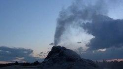 File:White Dome Geyser erupting.webm