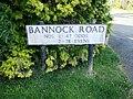 Whitwell Bannock Road sign.JPG