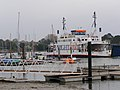 Wightlink ferry approaching the Lymington terminal - geograph.org.uk - 161421.jpg