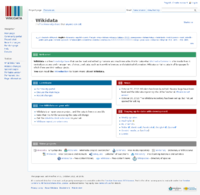 Screenshot of Wikidata's Main page