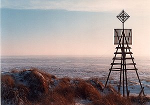 Schiermonnikoog - The triangulation beacon on Willemsduin in wintertime