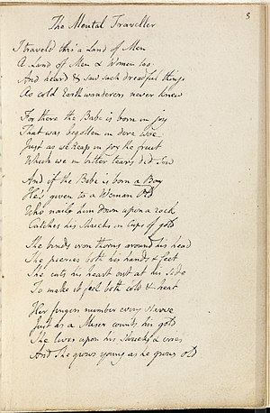 The Mental Traveller - The Mental Traveller, Blake's Manuscript (c. 1803)