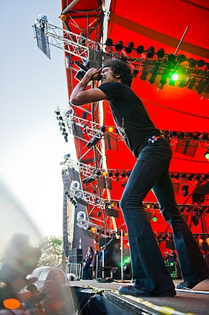 William DuVall - William DuVall performing with Alice in Chains at Roskilde Festival 2010