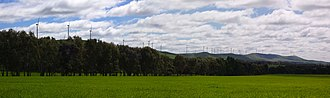 Mount Lofty Ranges - Wind turbines northwest of Burra.