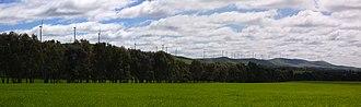 Mount Lofty Ranges - Wind turbines northwest of Burra.