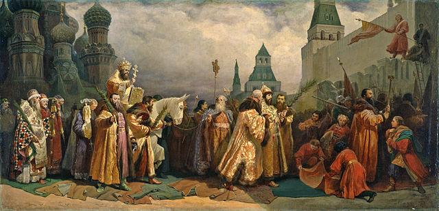 Вербное Воскресенье в Москве в царствование Алексея Михайловича. В.Б.Шварц, 1865