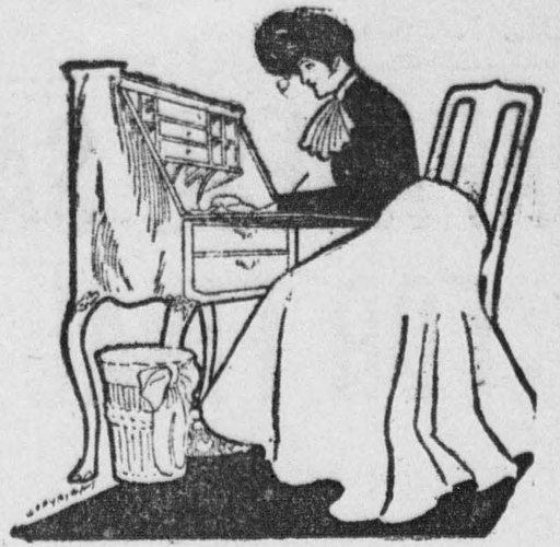 Woman at writing desk (1904)