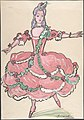 Woman in an elegant pink and green gown MET DP804817.jpg