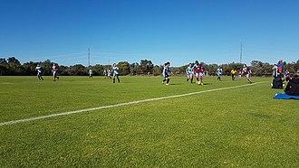 Soccer in Western Australia - Ladies play in a 3rd tier amateur football game between Leeming and Bunbury