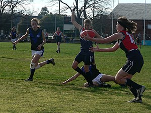 Action from the 2007 VWFL Grand Final