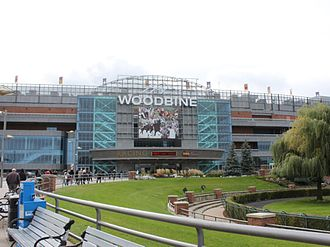 Woodbine Racetrack - Exterior of Woodbine Racetrack. The racetrack carries on the name of the original building, which operated east of the present racetrack.