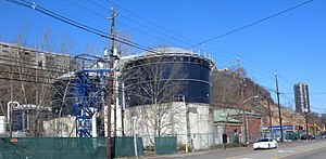 North Bergen, New Jersey - Woodcliff Treatment Plant at the foot of the Palisades
