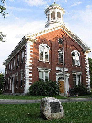 Windsor County courthouse in Woodstock