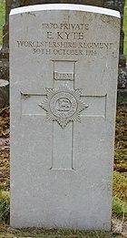Worcestershire Regiment gravestone