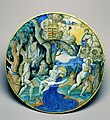 Workshop of Guido Durantino - Plate with Apollo and Daphne - Walters 481368.jpg