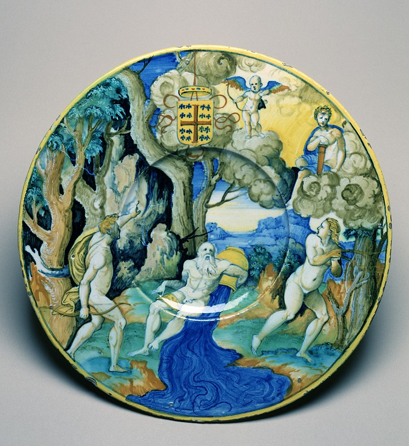 https://upload.wikimedia.org/wikipedia/commons/thumb/c/c5/Workshop_of_Guido_Durantino_-_Plate_with_Apollo_and_Daphne_-_Walters_481368.jpg/800px-Workshop_of_Guido_Durantino_-_Plate_with_Apollo_and_Daphne_-_Walters_481368.jpg