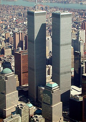 World trade center, new york city - aerial view (march 2001)