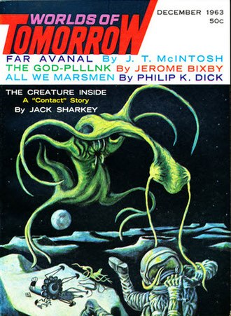 "Jerome Bixby - Bixby's ""The God-Plllnk"" was the cover story of the December 1963 issue of Worlds of Tomorrow"