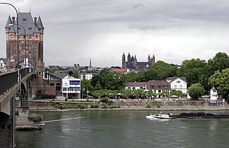 Worms, Germany - Nibelungen Bridge over the Rhine at Worms