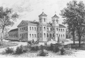 History of the College of William & Mary - College Building in 1859
