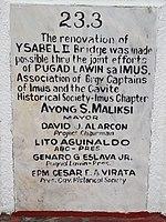 Ysabel II Bridge renovation commemorative plaque.jpg