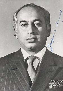 Zulfikar Ali Bhutto Fourth President and ninth Prime Minister of Pakistan