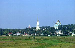 Zadonsk - Zadonsk as seen from the M4 Highway