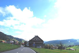 Zäziwil - Zäziwil village and surrounding countryside