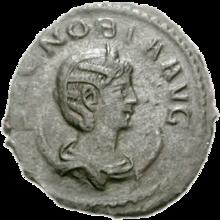 Zenobia on a Roman coin