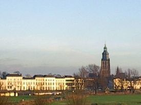 Skyline of Zutphen with St. Walburgiskerk