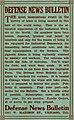 """DEFENSE NEWS BULLETIN"" 1001 West Madison Street Chicago, Illinois - advertisement inside, Shall Freedom Die (page 28 crop).jpg"