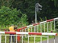 """Manned"" level crossing, Weardale Railway near Frosterley - geograph.org.uk - 1423856.jpg"