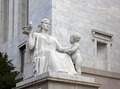 """Spirit of Justice"" statue at the Rayburn Building, Independence Ave., SE, Washington, D.C LCCN2010641924.tif"