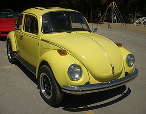 English: 1973 Volkswagen Beetle photographed a...