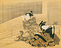 'Courtesan Playing the Samisen' by Isoda Koryusai, c. 1785.jpg