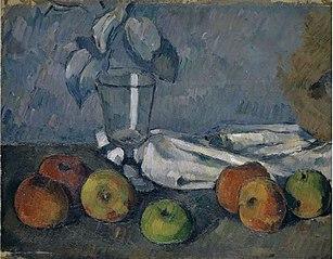 Verre et pommes