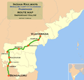 (Bengaluru - Vijayawada) Passenger train route map 01.png