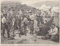 Événements d'Espagne, campement de troupes alphonsistes au pied de la redoute de Cacérès (Navarre), (dessin de M Pellicer).jpg