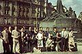 Óváros tér (Staromestské námestí), Husz János emlékmű. Fortepan 51505.jpg