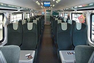 Railjet - Image: ÖBB railjet Economy class (2nd class) (9370596353)