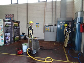 Dry ice - Dry ice blasting used for cleaning electrical installations