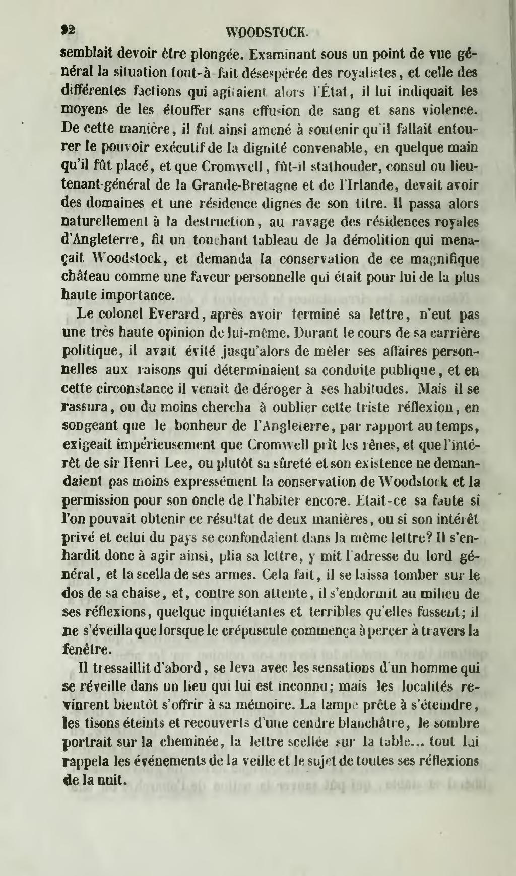 Page œuvres De Walter Scott Menard Traduction Montemont Tome 8