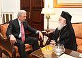 Συνάντηση ΥΠΕΞ Δ. Αβραμόπουλου με Αρχιεπίσκοπο Τιράνων, Δυρραχίου και πάσης Αλβανίας κ. Αναστάσιο (7602870942).jpg