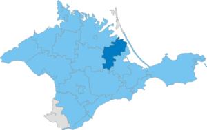 Nyzhnohirskyi Raion - Image: Карта схема Крыма Нижнегорский район