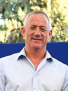 Benny Gantz Israeli general and Chief of General Staff