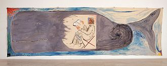 "Leviathan - ""Leviathan"" (1983) a painting by Michael Sgan-Cohen, the Israel Museum Collection, Jerusalem"